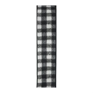 W BUFFALO PLAID NOIR & BLANC #40 25VRG